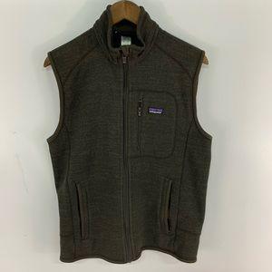 Patagonia Brown Full Zip Better Sweater Vest